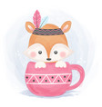adorable boho fox vector image