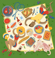 adult couple man and woman on summer picnic vector image