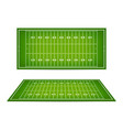 american football field with marking football vector image
