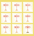 assembly flat shading style icons university vector image vector image