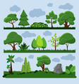 background landscape with tree and grass vector image vector image