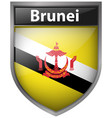 badge design for flag of brunei vector image vector image