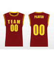 basketball uniform vector image vector image