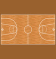 basketball wooden court background parquet field vector image vector image