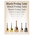 Beautiful Guitars Background of for Black Friday vector image vector image