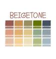 Beigetone Color Tone vector image vector image