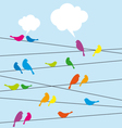 birds sitting on wire vector image vector image