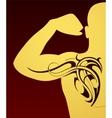 Body art tattoo vector image vector image