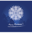 Christmas card or invitation vector image vector image