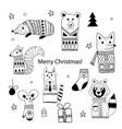 christmas doodle animals