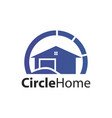 circle home logo concept design symbol graphic vector image vector image