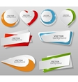 Collection of Origami Banners Template vector image vector image