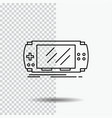 console device game gaming psp line icon on vector image vector image