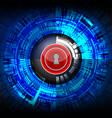 cyber digital padlock vector image vector image