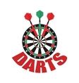 Darts label Badge Logo Darts sporting symbols vector image vector image