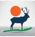 deer icon vector image vector image