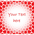 Design red heart perspective background for text vector image