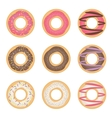 Donut set vector image vector image