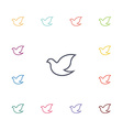 dove flat icons set vector image