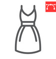 dress line icon fashion and clothing