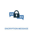 encryption message icon in two colors premium vector image