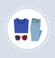 female fashion clothes and accessories shopping vector image