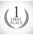 First Place Laurel Design Label vector image
