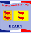 flag of french province bearn vector image