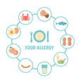 food allergy concept allergy vector image vector image