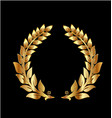 golden laurel wreath icon vector image