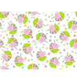 hand drawn seamless pattern with cute vector image vector image