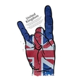 hand gesture cool rock and roll flag of england vector image vector image