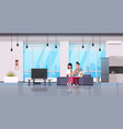 happy couple eating pizza man woman watching tv on vector image vector image