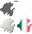 Hidalgo blank outline map set vector image vector image
