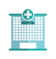 hospital building emergency icon vector image vector image