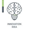 innovation icon idea concept icon with editable vector image vector image