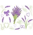 lavender design elements vector image vector image