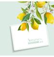 Lemons and Flowers Card Fruit Background Wedding vector image vector image