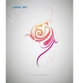 Liquid art design element vector image vector image