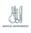 medical instruments line icon linear vector image vector image