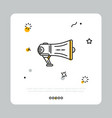 megaphone of producer in simple icon vector image vector image