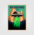 missing people with unidentified flying object vector image vector image