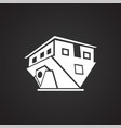 modern architecture up side down building on black vector image