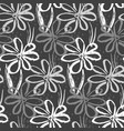 monochrome pattern with inky chamomile flowers vector image vector image