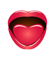 mouth with language vector image vector image