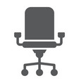 office chair glyph icon office and work vector image vector image