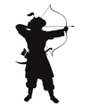Oriental archer Warriors Theme vector image