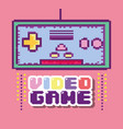 pixelated retro gamepad vector image