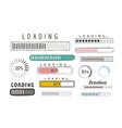 progress loading bar set icons load symbol vector image