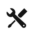 repair symbol black color icon vector image